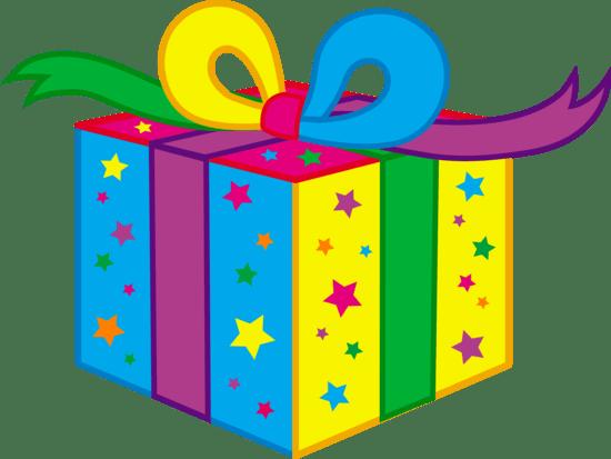 Kids Birthday Party Present - Free Clip Art (550 x 413 Pixel)