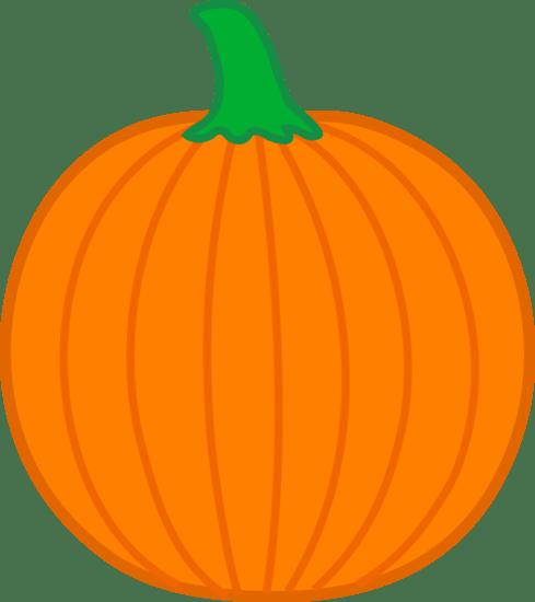 Simple Orange Halloween Pumpkin - Free Clip Art (489 x 550 Pixel)