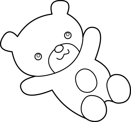 cuddly teddy bear coloring page free clip art