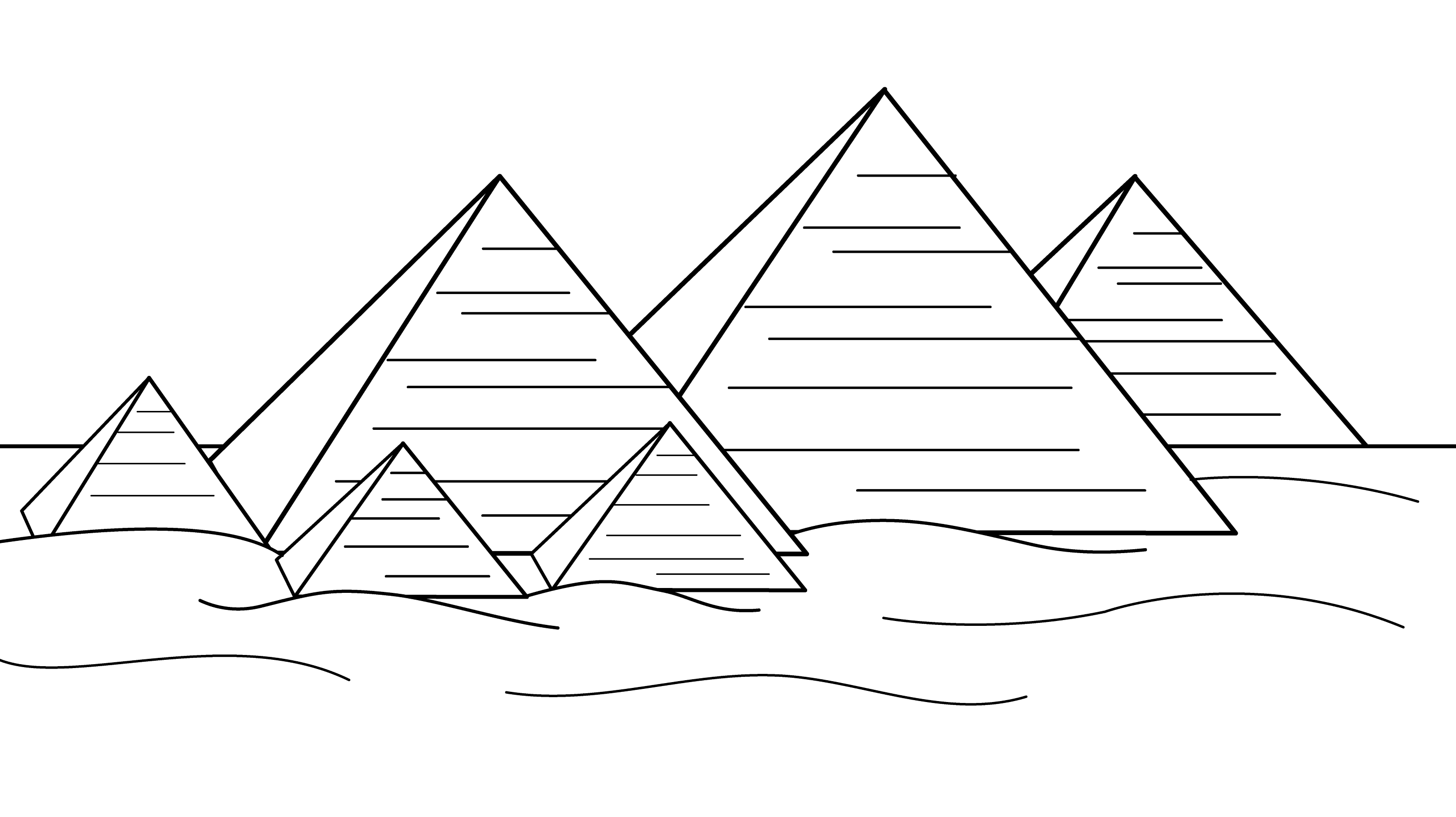 Pyramids Of Egypt Coloring Page