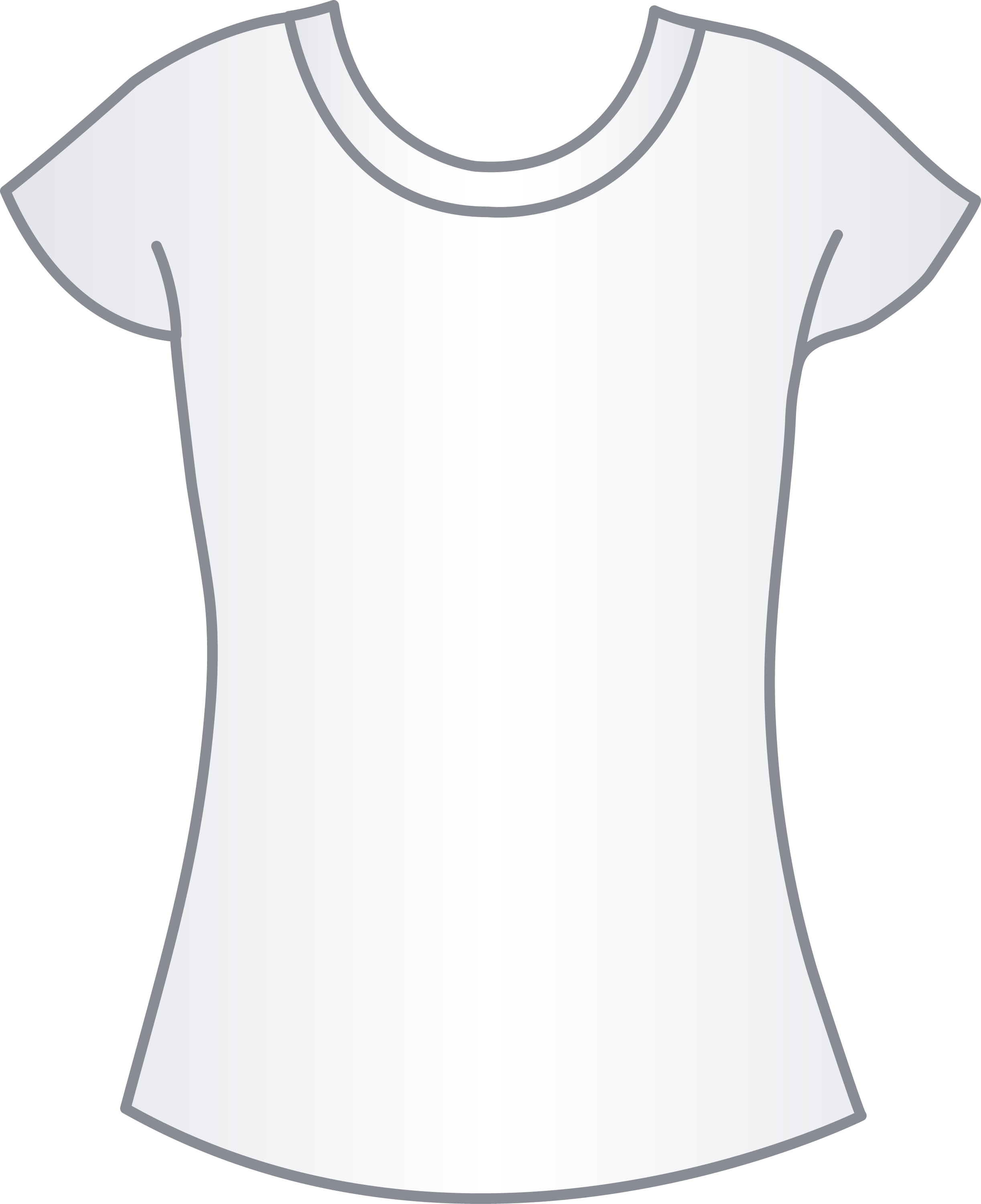 Womens White T Shirt Template