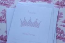 Invitación corona rosa