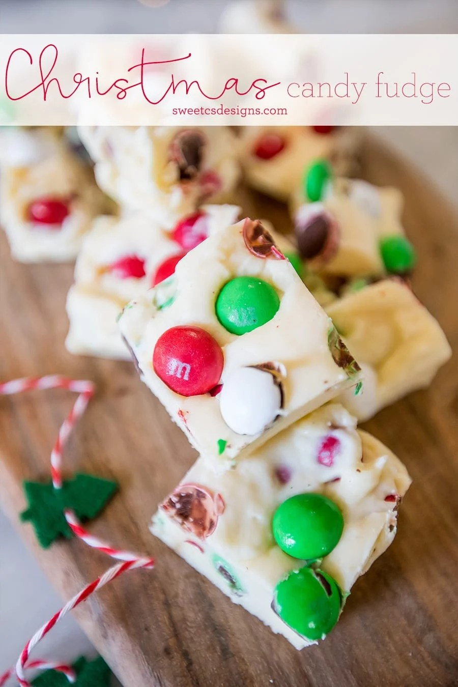 Christmas Candy Cookie Dough Fudge Neighbor Gift Sweet