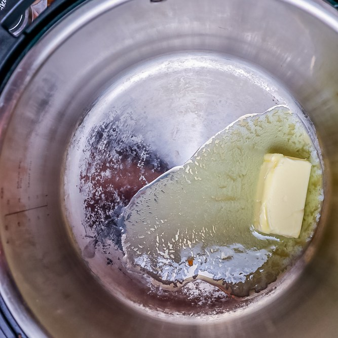 melt butter in instant pot