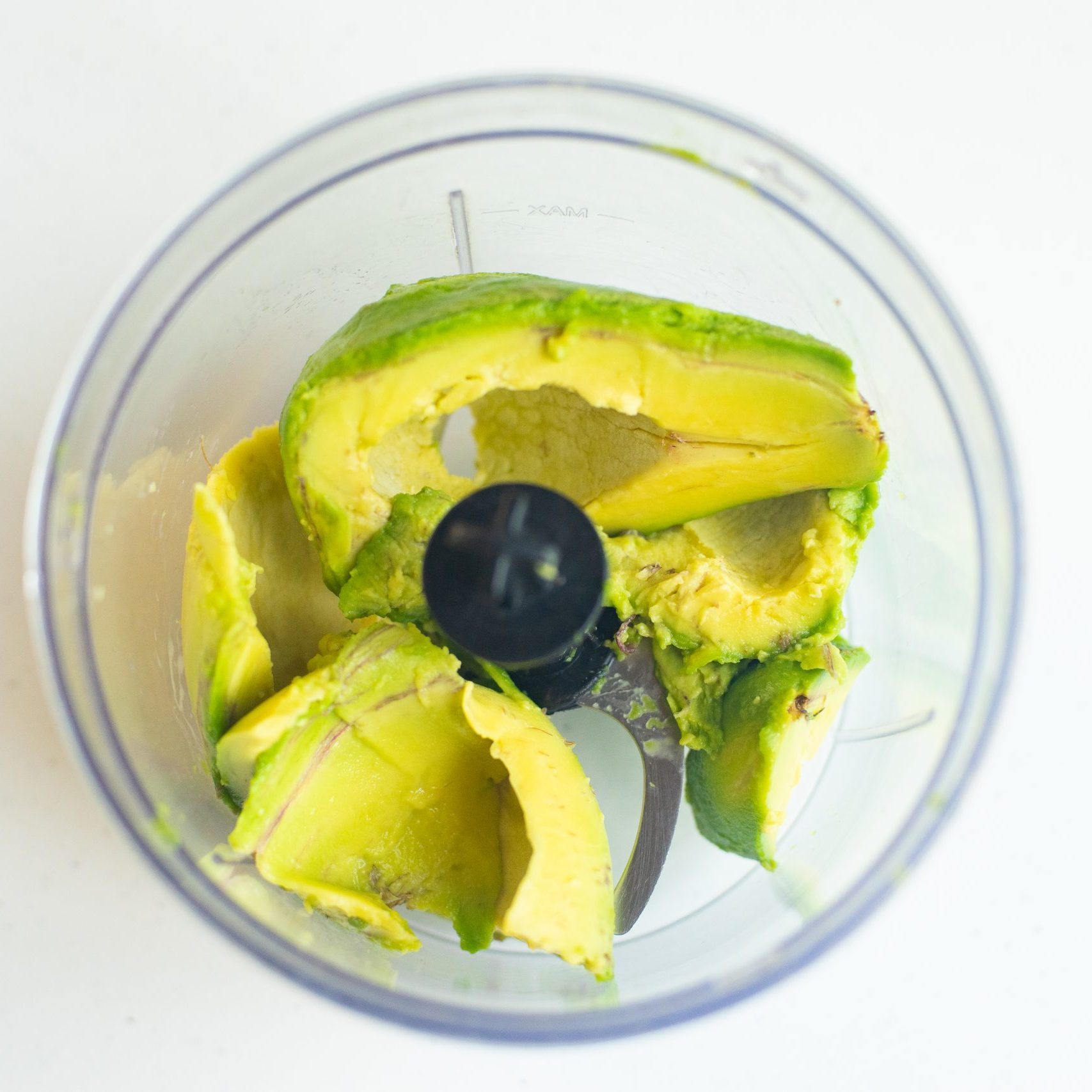 picture of avocado in a food processor