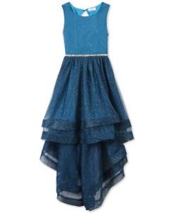SALE! $37.60 (Reg $94.00) Big Girls Glitter Mesh Maxi Dress