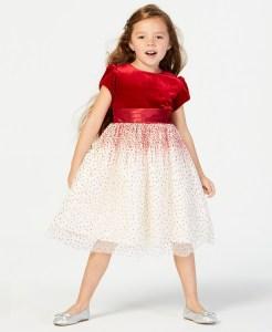 SALE! $29.60 (Reg $74.00) Little Girls  Glitter Mesh Dress