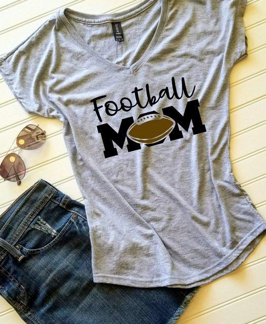 4b00dfdb Football Mom shirt, Mom shirt, Ladies Tshirt, Womens Tshirt, Gift for her,  Gift for Mom, Custom tshirt
