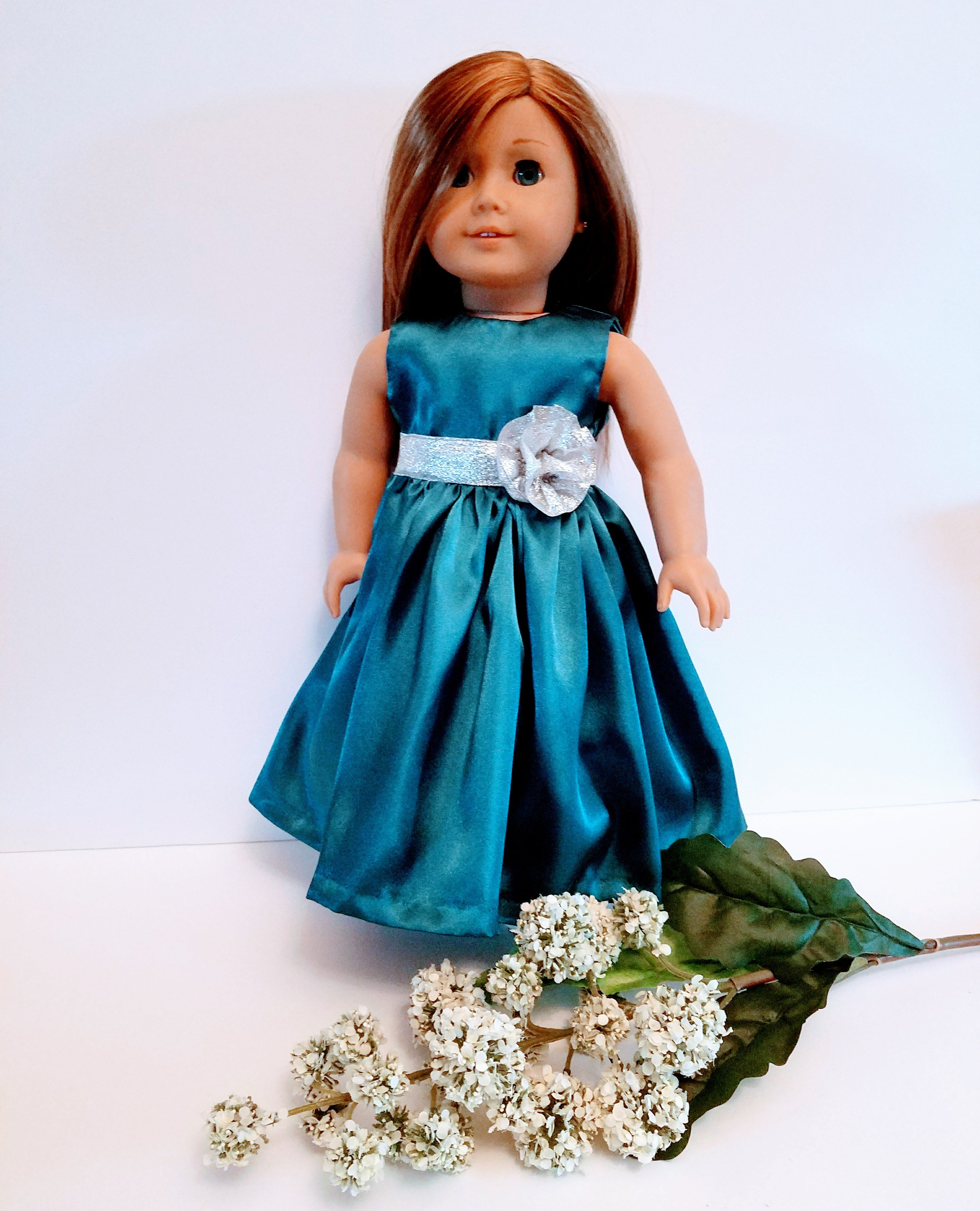 Flower Girl Gift, Doll Clothes, Bridal party gift, Custom Doll Dress ...