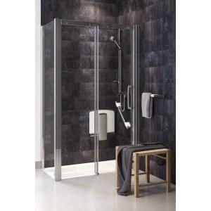 douche avec barre d'appui onyx acier inoxidable