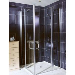 Paroi de douche pleine hauteur Panneaux fixe + pivotant