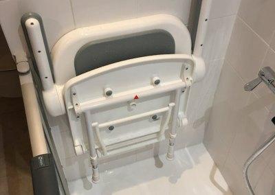 Pose siège de douche