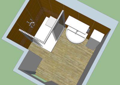 Plan 3D aménagement sdb