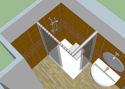 Plan 3D salle de bains senior