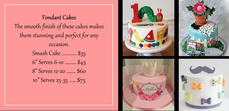 Aug 2018 Fondant Cakes