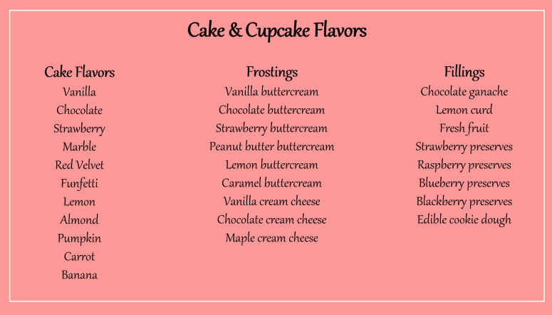 Cake flavors 9