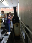 beginning and end of the bottling line.