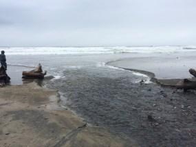 Incoming tide, Cannon Beach, Oregon, 11 March 2016.