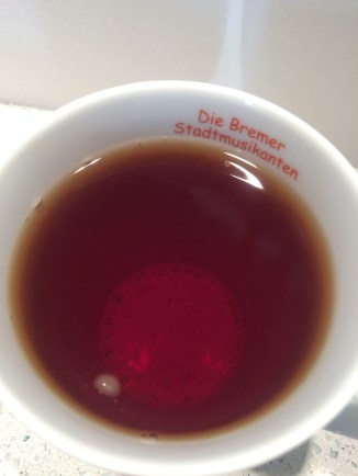 Irish Breakfast tea steeped 4 minutes.