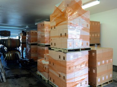 Case goods at Adamant Cellars