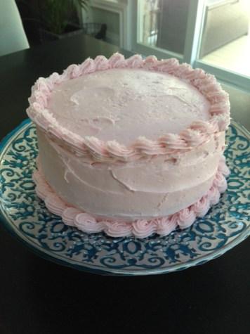 Chocolate Cake with RaspberryButtercream