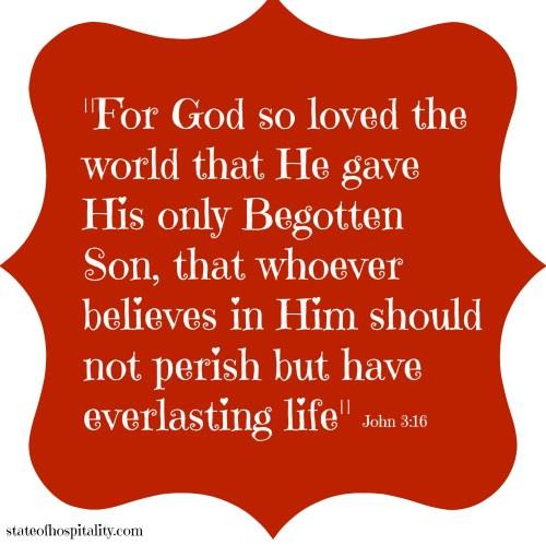John 3-16 valentine