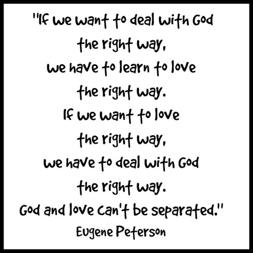 eugene peterson quote