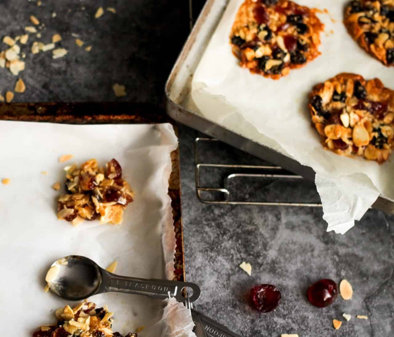 A tray of florentines