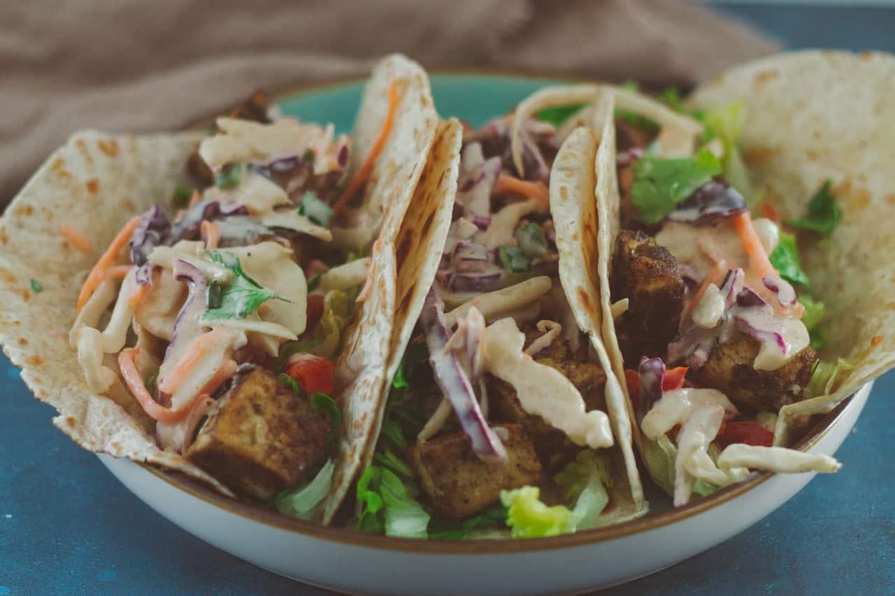 Easy and Delicious Vegan Tofu Tacos with Cajun Slaw