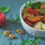 Warm Sourdough Bread and Roasted Plum Salad Recipe