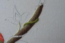 Raised stem band stitch.