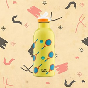 Bouteille Isotherme motif tennis Mama Wata 470 ml