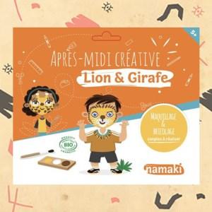 Pochette Après-midi créative Lion & Girafe
