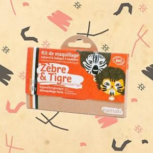 Kit de maquillage zèbre et tigre