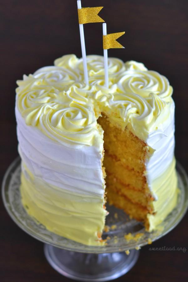 Ombre Cake Noix De Coco Citron