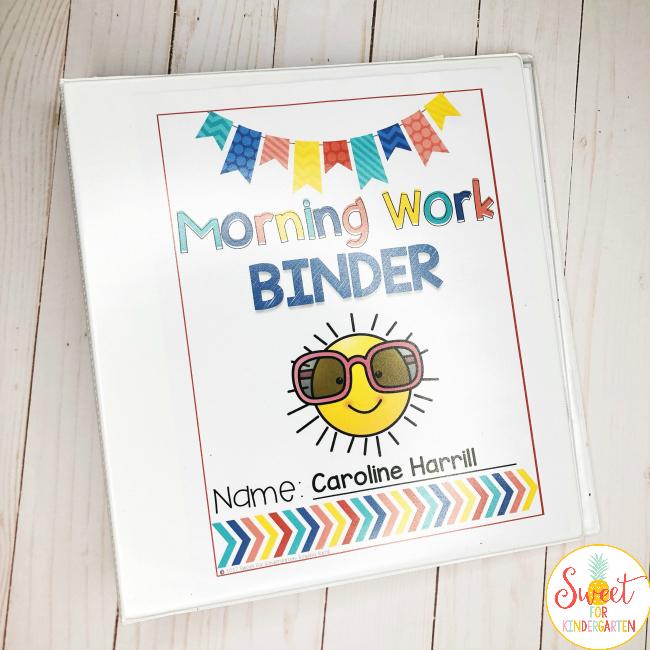 Transform Your Morning Routine- Morning Work Binder