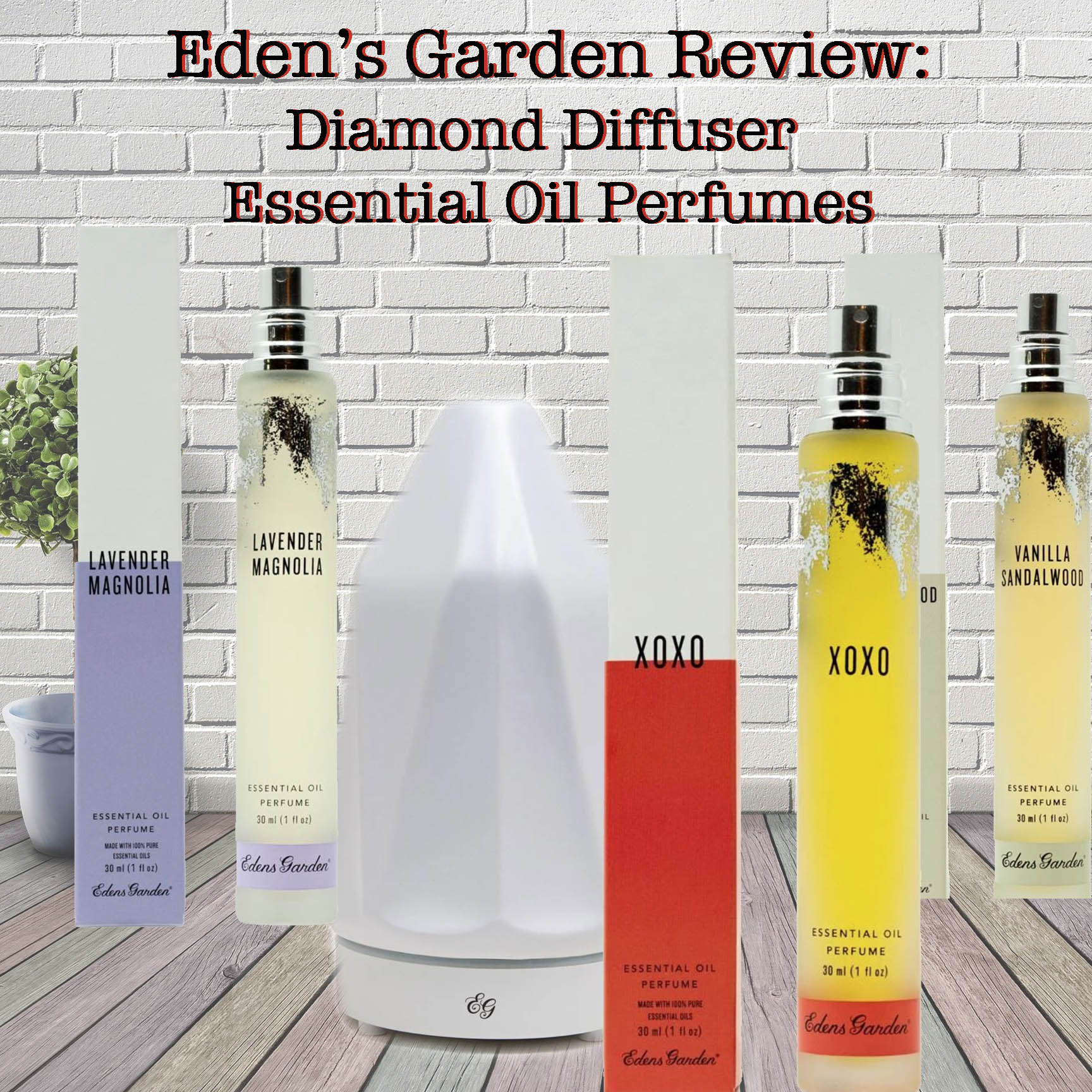 Eden's Garden Essential Oil Perfumes and Ceramic Diamond Diffuser Review