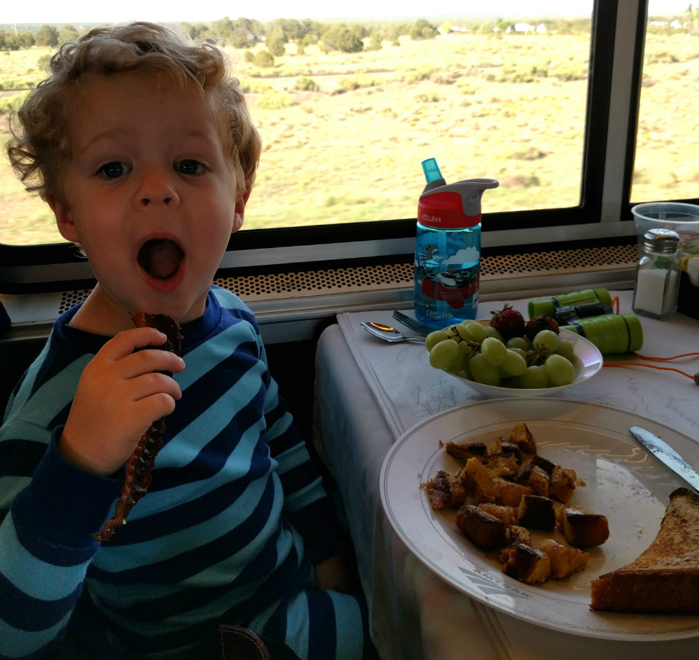 Breakfast in the Dining Car