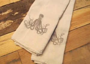 organic cotton tea towels made to order