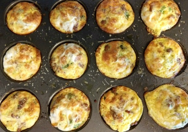 sausage broccoli muffin