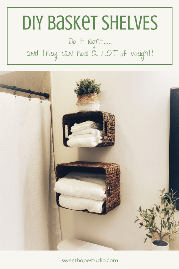 DIY Basket Shelves
