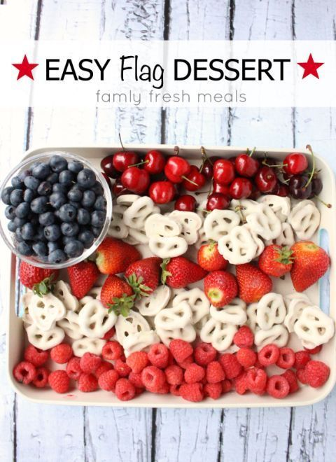 4th of july party fruit tray