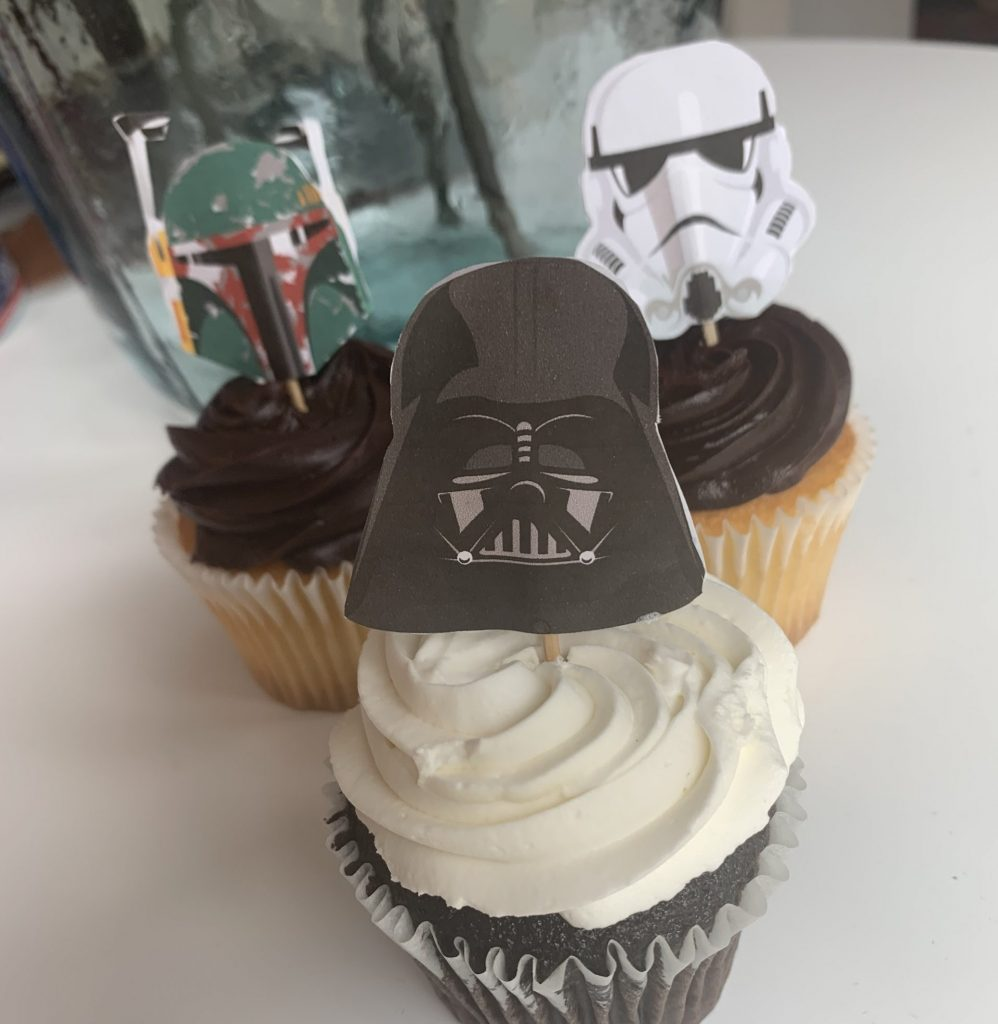 Star Wars party cupcakes