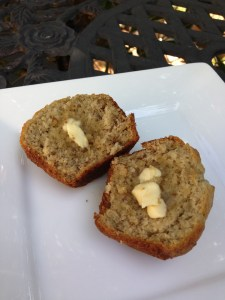 Banana Muffin Warmed with Butter