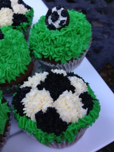Oreo Cookie Chocolate Soccer Cupcakes