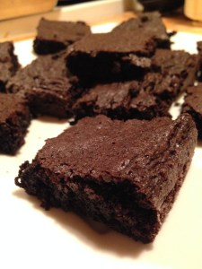 Moist Dark Chocolate Brownies