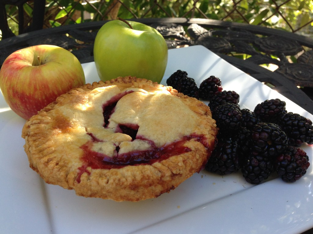 Mini Apple Blackberry Pie with All Butter Crust Recipe
