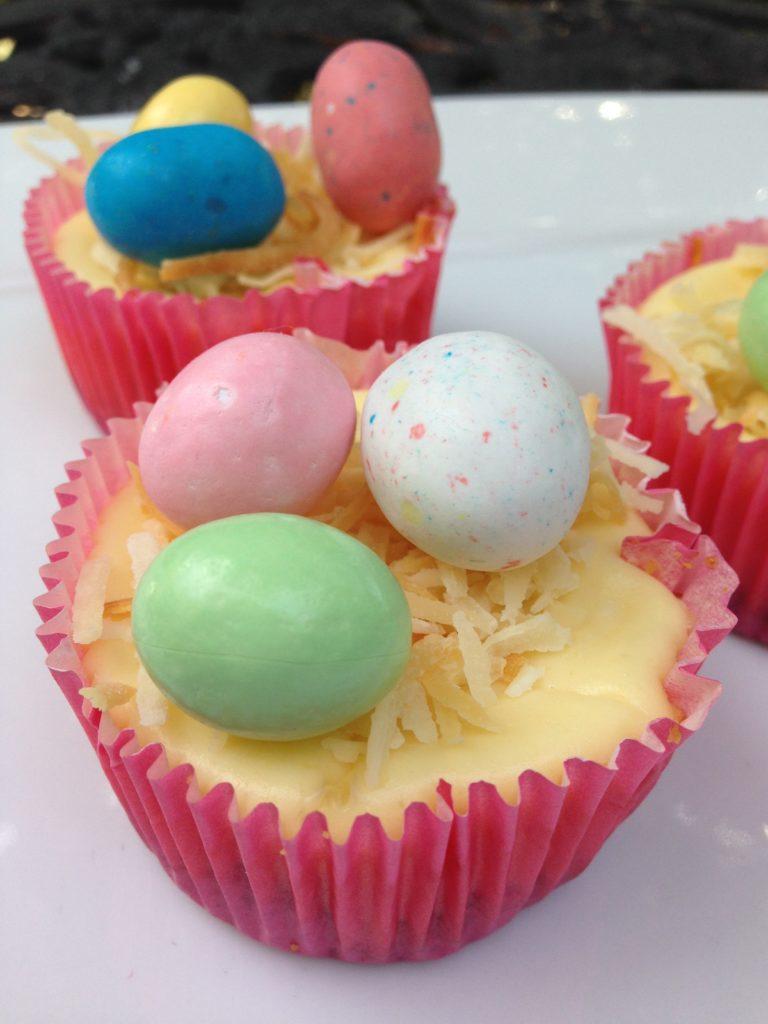 Easter Egg Mini Cheesecake Cupcakes