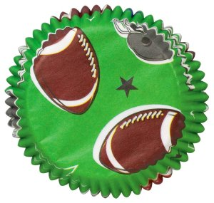 Wilton Football Cupcake Liners