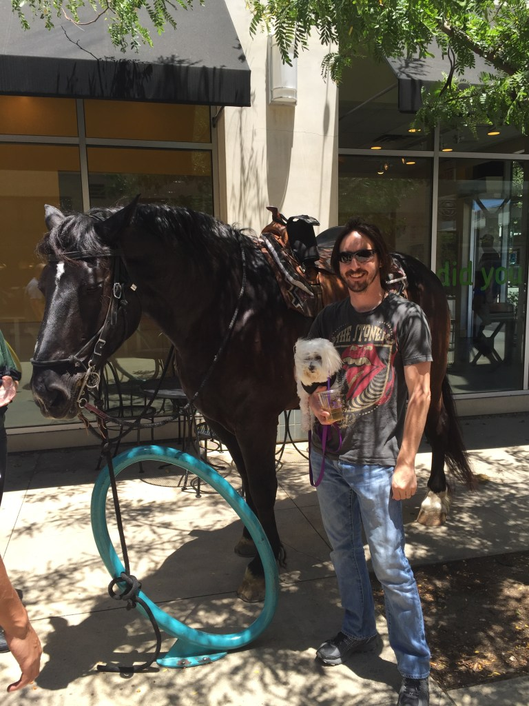 Kyle, Sugar and Horse in Claremont